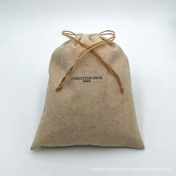 bolsas de yute con cordón para joyería