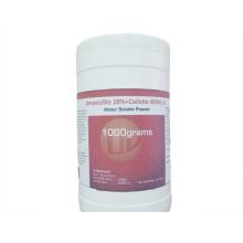 Polvo soluble en agua de amoxicilina + colistina