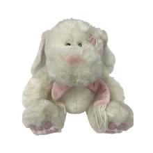 Juguete de conejo gordito con bufanda rosa