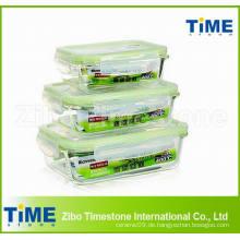 Pyrex Glasfutterbehälter mit luftdichtem Deckel