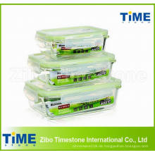 Pyrexglas-Nahrungsmittelbehälter mit luftdichtem Deckel