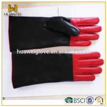 fashion cheap long leather gloves for women