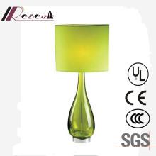 Lámpara de mesa decorativa de cristal del diseño único de la cabecera del verde