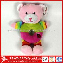 Прекрасный чучело медведя игрушечный плюшевый ребенок погремушка