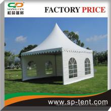 5x5m chêne en porcelaine décorée pagode tente pour petite fête de jardin et événement sportif