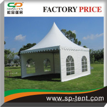 5x5m china aluminum frame decorated pagoda tent for small garden party and sports event
