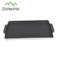 Top quality cast iron enamel coating bbq grill