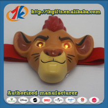 Figurine de jouet animal de plastique drôle Jouet de lampe de tête