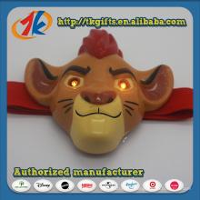 Смешные Пластиковые Животные Лев Фигурка Головная Лампа Игрушка