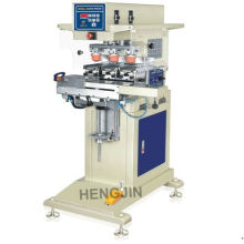 3 color shuttle open ink shuttle pad printing machine with max steel plate size 100x150mm