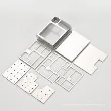 Изготовленная на заказ штамповка металла алюминиевая коробка для печатных плат RF экранирование