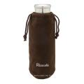 Wasser-Glasflasche mit Schutztasche & Sieb