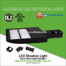 DLC Listed 150W LED Parking Lot Area Fixture for Square Pole Mount