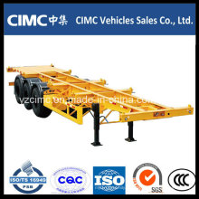 Cimc 3 Achse 40ton Skeleton 40FT Container-LKW-Auflieger