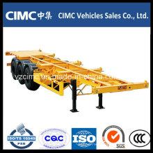Cimc 3 Axle 40ton Skeleton 40FT Container Truck Semi-Trailer