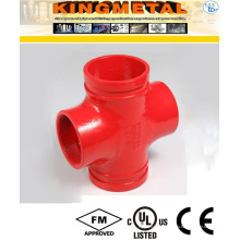 ASTM A536 C Grooved Cross Fittings Protección contra incendios