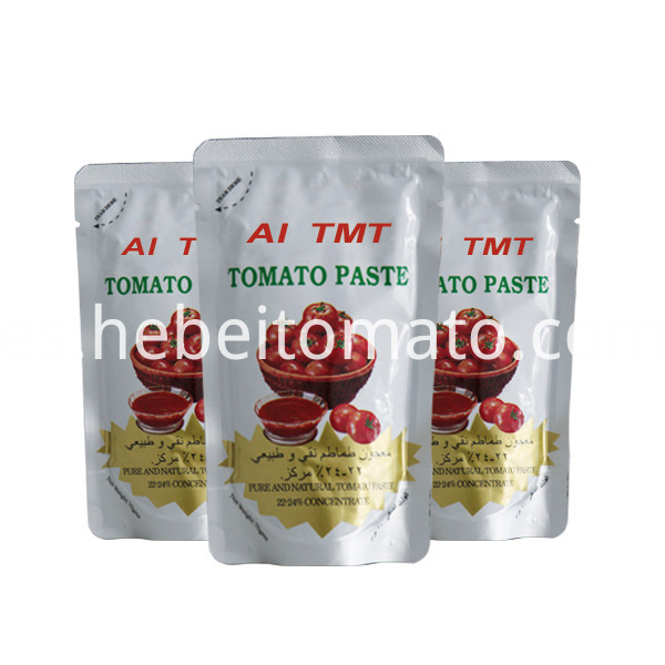tomato sauce packaging plastic bag