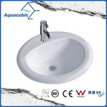 Bassin de salle de bains au-dessus de l'évier en céramique de compteur (ACB005)