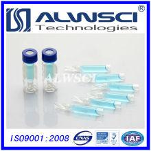 Vial de HPLC de 2 ml 9-425 con un vial de cromatografía de inserto vial de vidrio tubular transparente