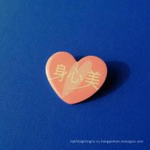 Булавка оттиска печати, значок сердца (GZHY-OP-016)