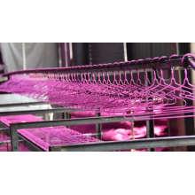 Металлическая вешалка для одежды из ПВХ
