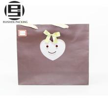Bolsas de compras de papel elegante revestidas con el logotipo
