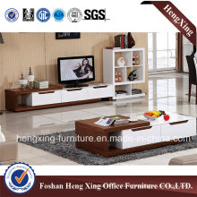 White Color Melamine Living Room Furniture TV Stand (HX-6M298)