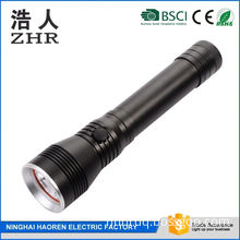high power T6 led flashlight with power bank,microphone,music play,hands free call