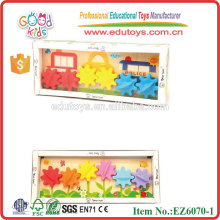 Wooden Educational Toy with Plastic Gears For Children