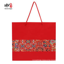 Matte finish shopping paper tote gift bag with custom print