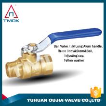 Válvula de bola de latón con mango azul con giro de 90 grados en YU HUAN OUJIA