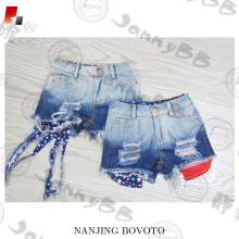 adjustable waist 4th of July denim shorts