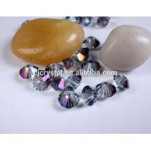 Granos flojos cristalinos al por mayor, granos de cristal baratos, granos del bicone