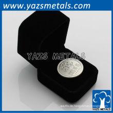 999 reine Silbermünze mit schwarzem Samtkasten