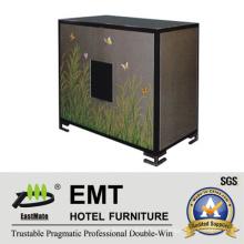 Gabinete de pintura vívida da mobília da área pública do maciço do estado de madeira (EMT-DC05)