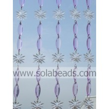 Cool 40MM&38MM Plastic Crystal Beading Curtain Garland
