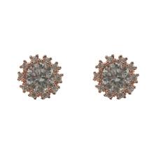 Серьги-гвоздики с покрытием из розового золота