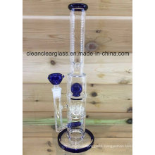 "16"" Glass Water Pipe Glass Smoking Pipe with Sprinkle Perc"