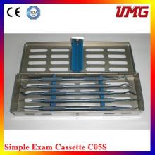 Instrumentos cirúrgicos dentários Cassette de esterilização dental