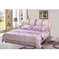 Розовый современная кровать, Ciff кожаная кровать (9006)