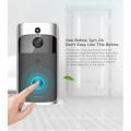 Timbre video elegante de Wifi cámara ancha del ángel de 130 grados con bajo consumo