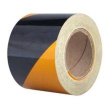 Стеклянные бусины 10 см Ширина полосы Желтая и черная отражающая лента