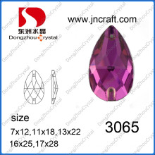 Fuchsia Color Sew on Rhinestones for Ball Gowns