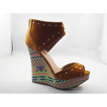 2016 Fashion Wedge Heel Women Sandals (HCY03-115)