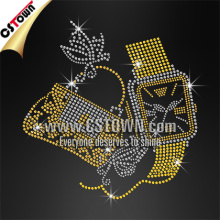 Fashion handbag and watch customized rhinestone hotfix crystal patterns