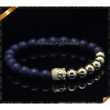 Gold Plated Buddha Bracelets Matte Agate Stone Bracelets (CB0112)
