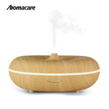 Novas idéias do produto 2018 música bluetooth speaker 400 ml de madeira acabamento aroma difusor do óleo essencial original amazon top seller