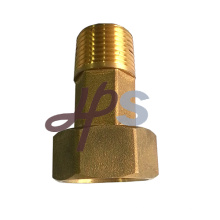 Acoplamiento de conexión de medidor de agua roscada de latón