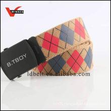 Fashion eco-friendly eyelet canvas belt