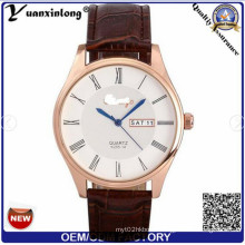 Yxl-511 2016 New Arrivals China Suppliers Popular Studded Leather Strap Waterproof Fashion Double Date Mens Wholesale Quartz Watches